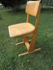 Vintage Chair wood school Stool Children retro Seat Kid antique bauhaus design