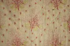 LARGE KING antique quilt French boutis textile PINK coral design Large BEDDING