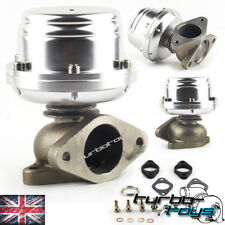 TTS UNIVERSAL 38MM ADJUSTABLE EXTERNAL TURBO WASTEGATE  DUMP SILVER fits TIAL