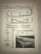 Concrete Pontoon On The Manchester Ship Canal: 1912 Engineering Magazine Print