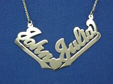Personalized 14K Gold  ANY 2 NAME NAMES Necklace