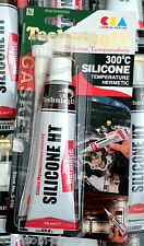 TECHNICQLL HIGH TEMPERATURE ADHESIVE SILICONE LIQUID GASKET SEALANT 70ml Black
