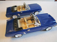 "(2) SUNNYSIDE FORD 289 CONVERTIBLE DIE CAST CARS - BLUE - 1:24 - 7"" - CR"