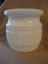 Randall Milk Glass Jar Planter Jardinier Container Holder 4-1/2 in tall Vintage