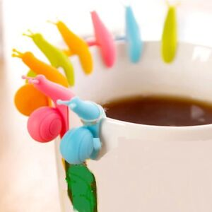 Silikon Schnecke Teebeutelhalter Tee Halter Glasmarkierer Teebeutel
