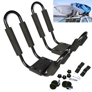 Universal 1 Pair Kayak / Canoe Carrier for Car Roof Racks J Bars and Straps UK