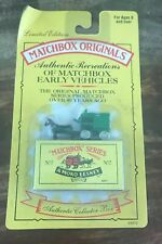 Matchbox - Authentic Recreations ~ Horse Drawn Milk Float (Green)~ NEW ON CARD
