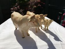 BESWICK CHAROLAIS CATTLE GROUP. BULL,COW AND CALF