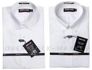 NEW MEN'S KIRKLAND SIGNATURE 100% COTTON NON-IRON DRESS SHIRT 80/2! VARIETY!