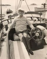 President Franklin D. Roosevelt sailing on a yacht 1933 FDR 8x10 Photo