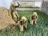 3RARE!DAK German Mortar Forces Valor Unimax 21stCentury 54mm-1/32 Painted Figure