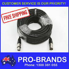 30 Metre XLR Pro QUALITY Male to Female M-F Microphone Mic Cable Lead Cord 30M
