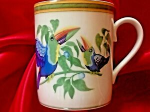 Hermes Porcelain Siesta island Mug Cup Tableware Floral Botanical tropical bird