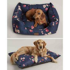 Joules Floral Print Plush Luxury Box Dog Pet Bed & Mattress - Small Medium Large