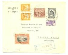 COLOMBIA 1941 - REG CV -LEGATION BELGIUM CONSULATE TO ARGENTINA -FINE FAULTS