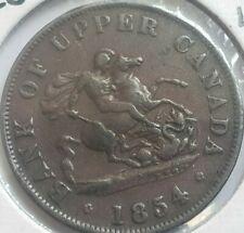 1854 Colonial Canada 1.2 penny token, PC-5C2, BR 720 Crosslet 4
