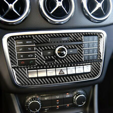 Carbon Fiber Control CD Panel Decorative Cover Trim For Mercedes Benz GLA CLA