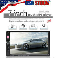 "7"" Inch LED Car Stereo Radio HD Mp5 Player Touch Screen Bluetooth Radio 2DIN FM"