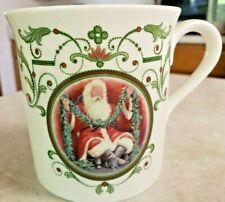 "Lenox Santa's Portrait Mug Titled ""Santa With Garland"" Made USA Microwave Safe"