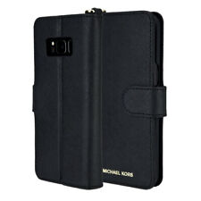 Michael Kors Folio Leather Card Wallet Case For Samsung Galaxy S8 Plus - Black