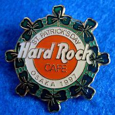 OSAKA JAPANESE ST PATRICK'S DAY SHAMROCK RING LOGO 1991 Hard Rock Cafe PIN