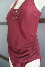 Tropiculture Swimsuit Bathing Suit One Piece Cranberry 16 XL Swimsuits for All