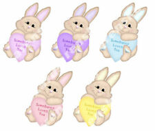 EASTER Somebunny Loves You 3D Cute Crafting Card Toppers Embellishments x 5