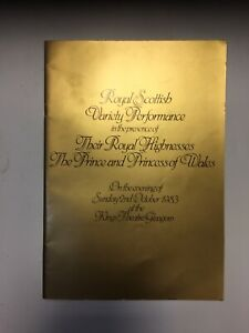 Princess Diana royal variety 1983 Programme