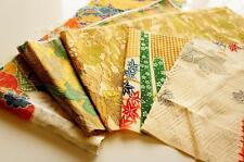 JPI **Patchwork Lot 441* Vintage Japanese kimono Fabric ***valued pack***