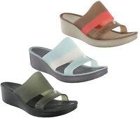 Crocs ColorBlock Wedge Heel Comfort Open Toe Womens Fashion Sandals Shoes UK 4-8