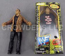 "Dwayne ""the Rock"" Johnson WWF Action Figures Leopard Jacket ToyFare Rocky Maivia"
