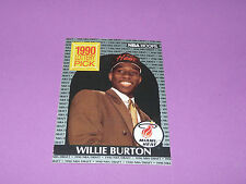 398 WILLIE BURTON MIAMI HEAT LOTTERY PICK 1990 NBA HOOPS BASKETBALL DRAFT