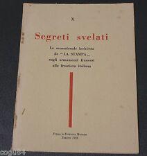 """Segreti svelati - Prima edizione Montes 1933 - Volume X - inchiesta """"La Stampa"""""""