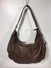 Chocolat Blu Dark Brown Pebbled Leather Hobo Handbag