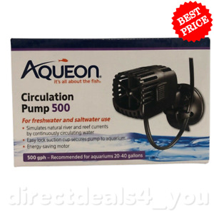 New Aqueon Circulation Pump 500 for Aquariums 20-40 Gallons