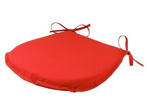 Simply Red D-Shaped Garden/Patio/Kitchen/Dining Tie-On seat pads *3 Sizes*