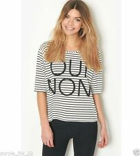 3/4 Sleeve Striped Other Women's Tops