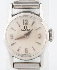 Vintage Women's Omega Stainless Steel Hand-Winding Watch w/ Bonklip Band
