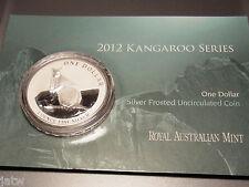 AUSTRALIA  2012  $1 Kangaroo -  1oz  Silver Coin....UNC  in card....Rock Wallaby