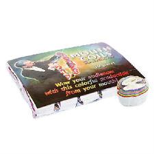25' RAINBOW MOUTH COILS 10 Pack Paper Streamer Magic Trick Clown Set Multi Color