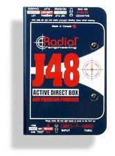 Radial J48 MK2 Active Direct Box Phantom Power J-48 DI MAKE OFFER! BRAND NEW!