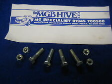 MG MGB ROADSTER OR GT SET OF 4 PROPSHAFT BOLTS AND NYLOC NUTS1962- 1980  *eb86