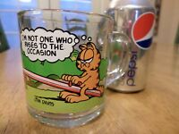 GARFIELD with friends and McDonalds, Vintage Glass Coffee / DrinkingCup