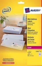 Avery Laser Jam Free White Mini 65 Labels Per Sheet 25 In Pack L7651