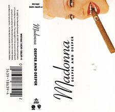 CASSETTE SINGLE K7 AUDIO (AUDIO TAPE) 2T MADONNA DEEPER AND DEEPER DE 1992 TBE