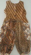 GIRL'S WIRA BATIK HAND MADE, ETHNIC JUMPSUIT, 4, PRE OWNED AS NEW $89.00 RARE