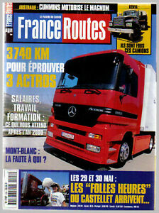 FRANCE ROUTES ROUTIERS N° 206 sans POSTER CAMION  1999 TBE
