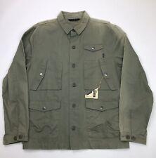 Poler Stuff Mens Kubrick Canvas Jacket Size Medium Green Olive New READ