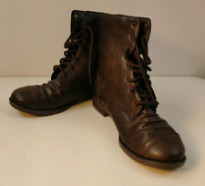 Brash Ollie Womens Boots Brown High Top Military Combat Size 8