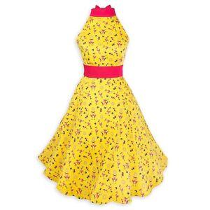 New Disney Parks Dress Shop Summertime Flamingo Women's Halter Dress XS-3X
